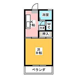 ロジュマンI[2階]の間取り