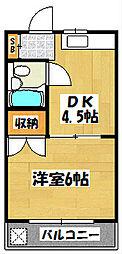 ロイヤルサンフラワー[3階]の間取り