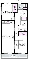 エステート柿の木II[3階]の間取り