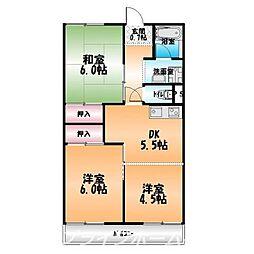 久米ビル[3階]の間取り