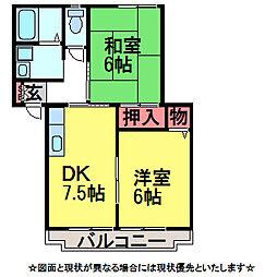 エーデルハイムA棟[1階]の間取り
