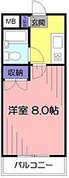 東京都小平市仲町の賃貸マンションの間取り