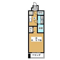 レジディア京都駅前[7階]の間取り