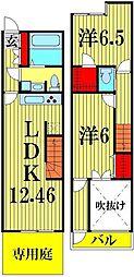 [テラスハウス] 埼玉県越谷市レイクタウン1丁目 の賃貸【埼玉県 / 越谷市】の間取り