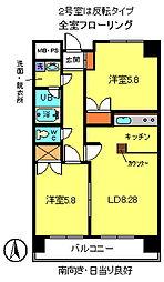 レジデンスタカフミIII[2階]の間取り