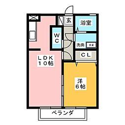 メゾン・ドゥ・ヒロ[1階]の間取り