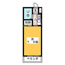 アメニティふじた[4階]の間取り