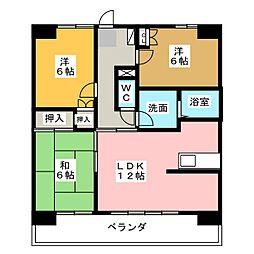 S-FORT上小田井[2階]の間取り