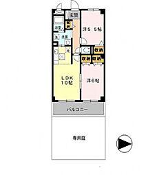 モナークコート[1階]の間取り