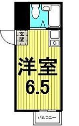 東京都荒川区西尾久4の賃貸マンションの間取り