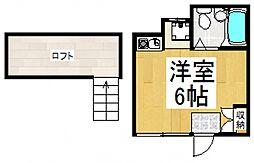 フローレンス恋ヶ窪[1階]の間取り