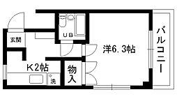 ふたばマンション[103号室]の間取り