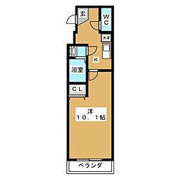 プラティーク四条[5階]の間取り