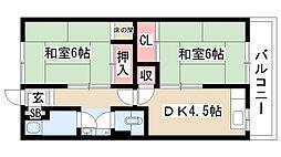 愛知県名古屋市緑区鳴海町字丸内の賃貸マンションの間取り
