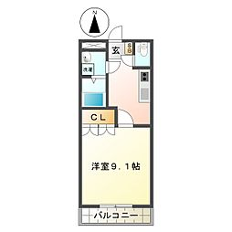 三重県亀山市関町木崎の賃貸アパートの間取り