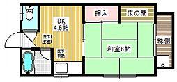 マンション・トキ[1階]の間取り