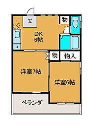 神奈川県川崎市麻生区万福寺2丁目の賃貸マンションの間取り