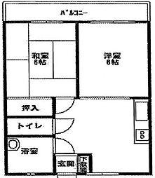 神奈川県横浜市保土ケ谷区月見台の賃貸マンションの間取り