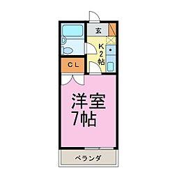 ボーディングハウス[2階]の間取り