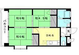 サウスタウンアサムラ[301 号室号室]の間取り