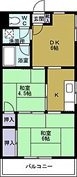 シルバーハイツ[3階]の間取り