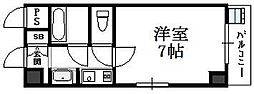 大阪府大阪市東成区神路1丁目の賃貸マンションの間取り