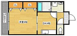 YMクレスト[1階]の間取り