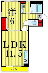 リージェント東和[1階]の間取り