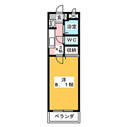 ブルックスキューブ[3階]の間取り