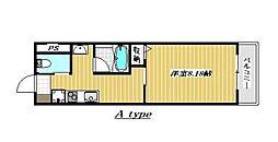 広島県呉市広古新開9丁目の賃貸マンションの間取り