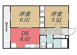 エントピア成田湯川[202号室]の間取り