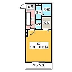アイユー[3階]の間取り