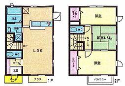 [タウンハウス] 福岡県北九州市小倉南区重住2丁目 の賃貸【/】の間取り