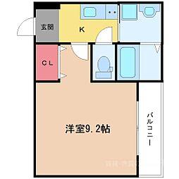 フジパレス新高II番館[2階]の間取り