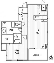 アーデンタワー福島ウエスト[7階]の間取り