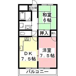 シャトーレ シン[3階]の間取り