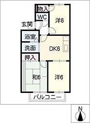 パルホームTOMIRYO S棟[2階]の間取り
