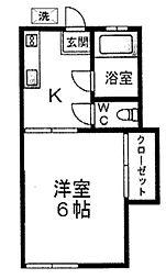 有明荘[202号室]の間取り