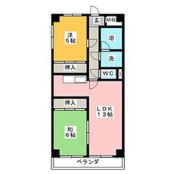 クレスト三郷[9階]の間取り