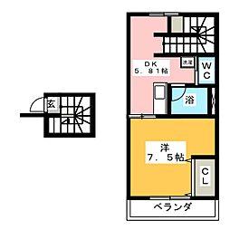 メルパルクハイツ[2階]の間取り