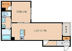 兵庫県神戸市長田区駒ケ林町6丁目の賃貸マンションの間取り