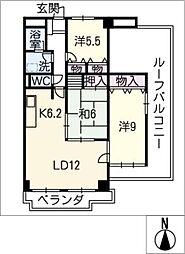 アートハウス伊賀 607号室[6階]の間取り