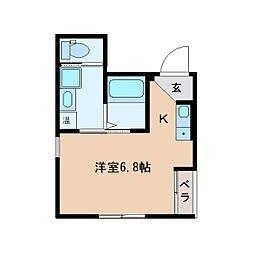 静岡県静岡市葵区屋形町の賃貸マンションの間取り