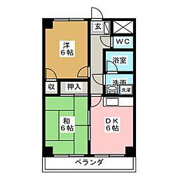 三鈴ライフ[1階]の間取り