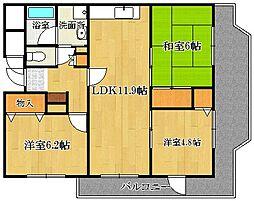 ファミーユ池田[3階]の間取り