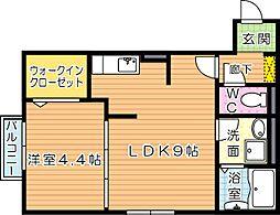 D-HOUSE(ディーハウス)A棟[A103号室]の間取り