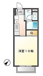 岐阜県可児市川合の賃貸アパートの間取り
