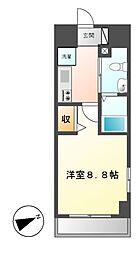 エステムプラザ名古屋・栄プレミアム[4階]の間取り