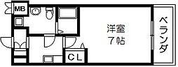 アーク吉田駅前 中新開2 吉田4分[3階]の間取り