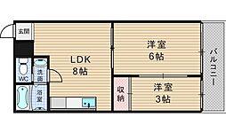 五條コーポ[505号室]の間取り